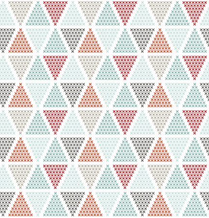 can pattern: Geometric seamless pattern, can be used as background