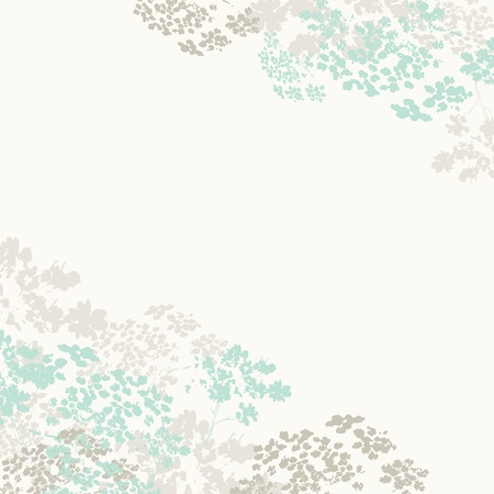 Light blue abstract floral background, vector Vector