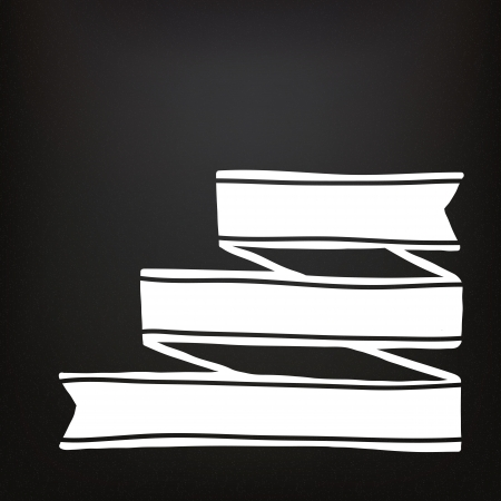 Hand drawn ribbons on the chalkboard Vector