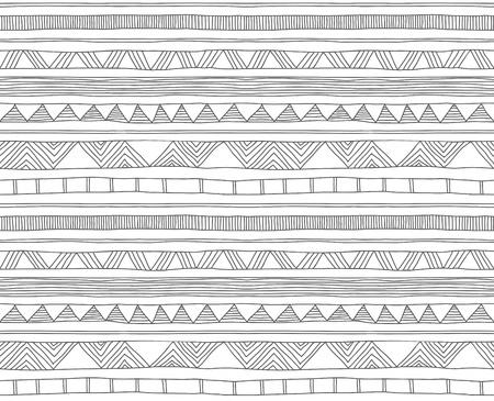 手描きの落書きのシームレスなパターン
