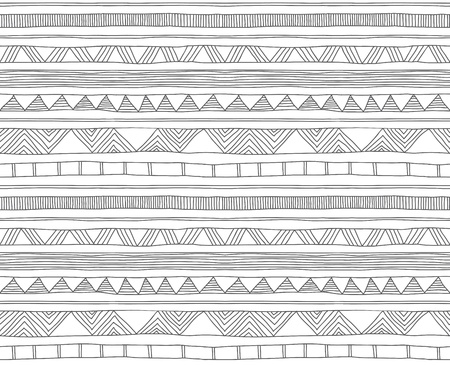 hand drawn doodle seamless pattern