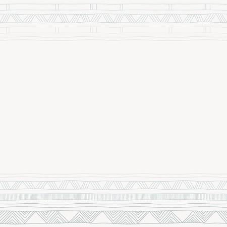 genteel: Modern wedding invitation with ornamental borders