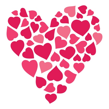 hand drawn heart of hearts Vector