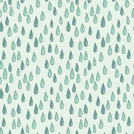 Seamless doodle pattern of raindrops Vector