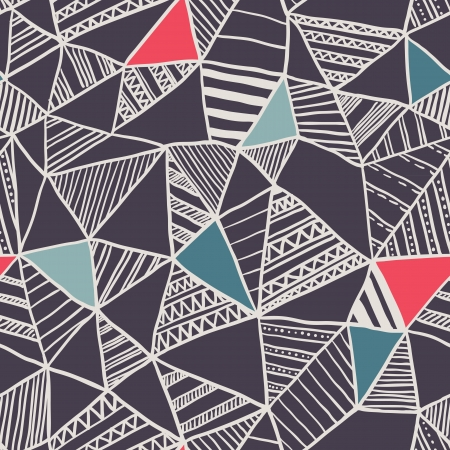 Abstract seamless doodle pattern Vector