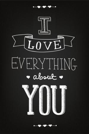 valentine's day: chalk art Valentines Day card Illustration