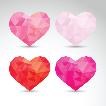 imposition: set of crystallized hearts