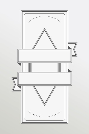 Retro style monochrome emblem with ribbon Vector