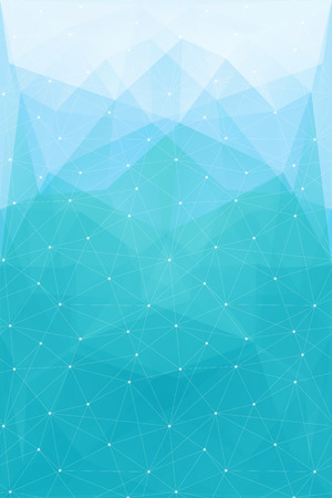 blue abstract polygonal background with triangle texture, vector Vector