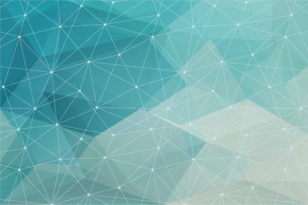 삼각형 텍스처와 파란색 추상적 인 다각형 배경 일러스트
