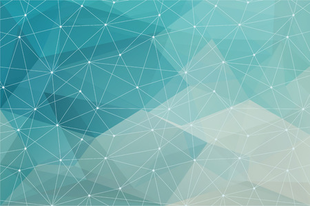 blue abstract polygonal background with triangle texture Vettoriali