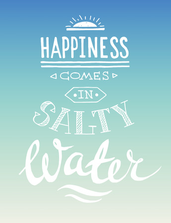 Hand drawn graphical summer quote Vector