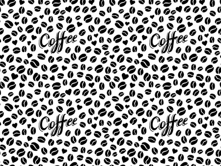 Coffee seamless pattern in traditional tattoo style