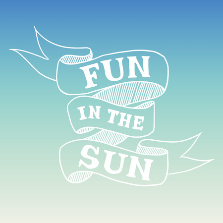 graphical: Hand drawn graphical summer quote
