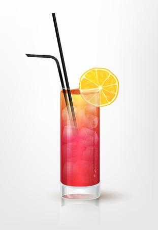 garibaldi: Realistic illustration of the Garibaldi cocktail, vector, EPS 10 Illustration