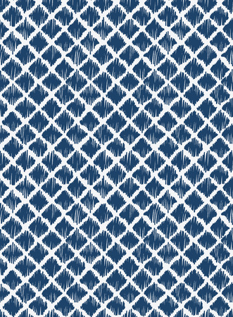 Indigo blue hand drawn seamless pattern, vector Banco de Imagens - 29296920