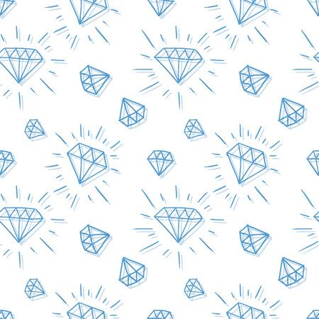 손으로 그린 다이아몬드 패턴