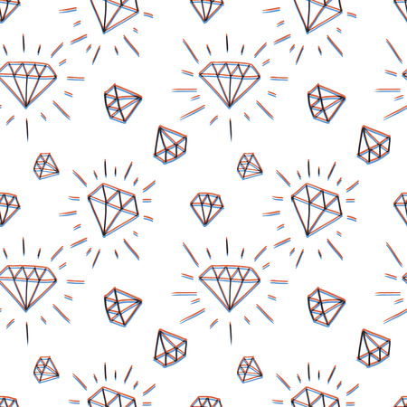 Hand drawn diamond pattern