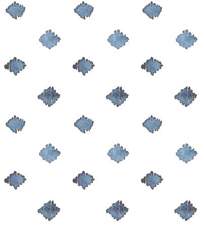 Indigo blauwe hand getekende naadloze patroon