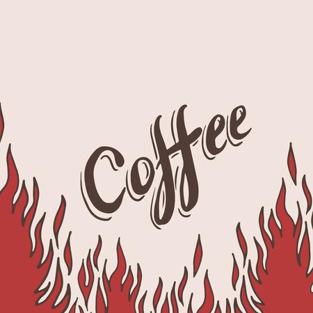 fond caf�: Tir� par la main de caf� de fond avec la flamme