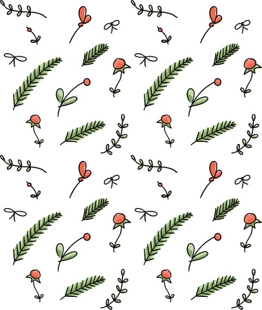 Seamless floral hand drawn pattern Vector