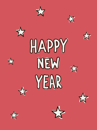 Hand drawn New Year sketch Vector
