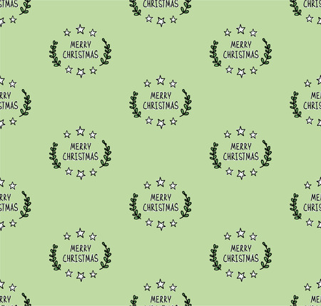 christmas seamless pattern: Hand drawn Christmas seamless pattern Illustration