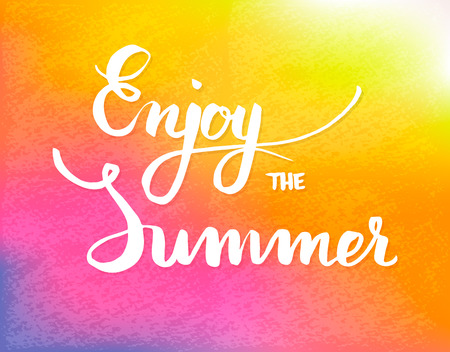 calligraphical: Summer calligraphical design element for poster or flyer, vector Illustration