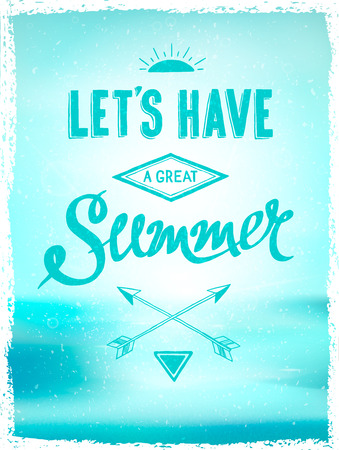 d�tente: �t� brillant affiche de motivation sur les vacances � la plage et de d�tente, vecteur Illustration