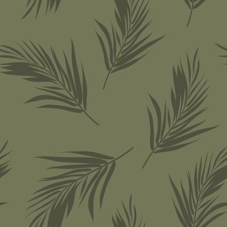 夏カラフルなハワイアン シームレス パターン熱帯植物、ベクトル イラスト