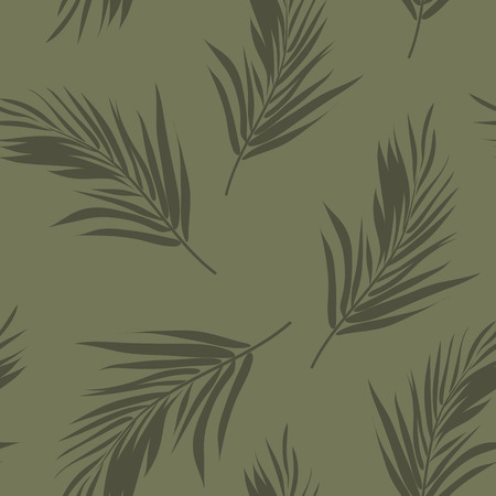 Summer colorful hawaiian seamless pattern with tropical plants, vector illustration Vettoriali