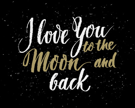 handlettering: Hand drawn love quote, retro typography, script calligraphy handlettering style