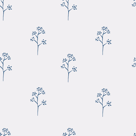 seasonings: Simple basic pattern with herbs and seasonings, Meadow Herbs collection, vector textile design.