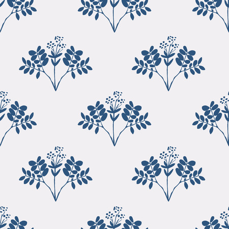 seasonings: Seamless pattern with herbs and seasonings, Meadow Herbs collection, vector textile design. Illustration