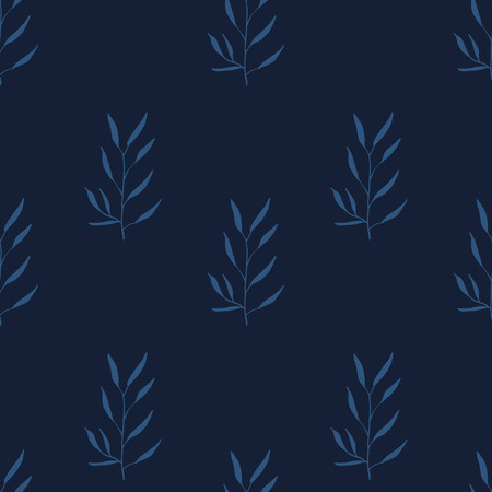 tarragon: Simple basic pattern with herbs and seasonings, Meadow Herbs collection, vector textile design.