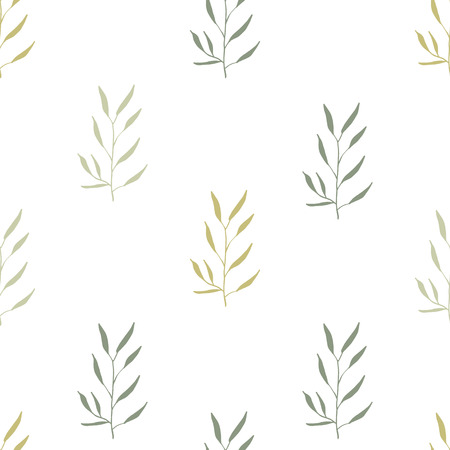 dise�o textil: Simple basic pattern with herbs and seasonings, Meadow Herbs collection, vector textile design.