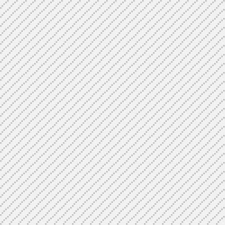 Thin white and grey pixel seamless diagonal stripes for web background, vector illustration Ilustração