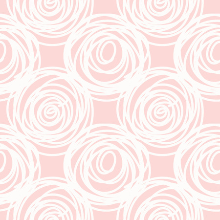 scribble: Hand drawn seamless pink scribble swirl texture, vector illustration Illustration