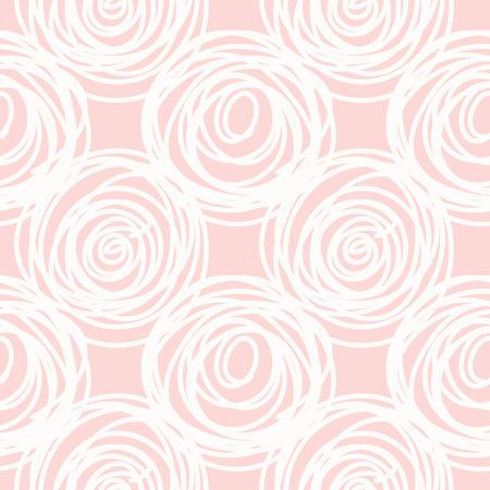Hand drawn seamless pink scribble swirl texture, vector illustration 向量圖像