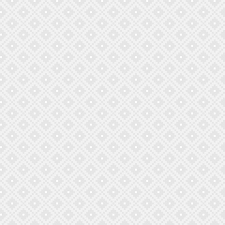 repeating background: White and grey seamless pixel background texture with diamonds, vector illustration Illustration