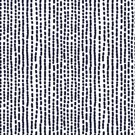 dotted line: Hand drawn seamless indigo irregular dotted line texture, vector illustration
