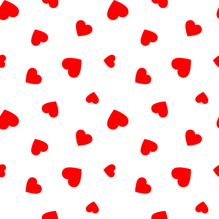 Seamless pattern with red hearts, illustration