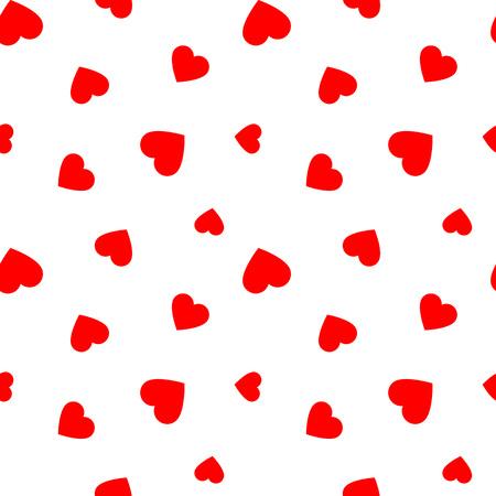 Naadloos patroon met rode hartjes, illustratie