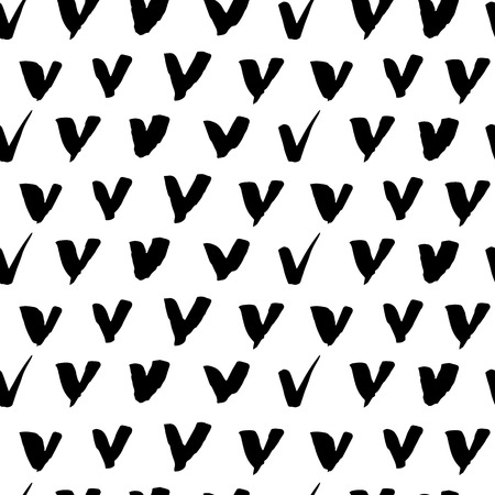 uneven: Seamless freehand drawn background uneven texture with check marks, vector illustration