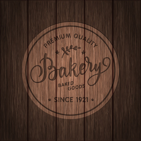 calligraphical: Vintage  calligraphical bakery illustration