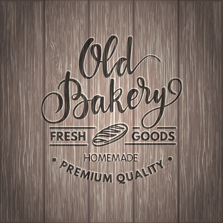 calligraphical: Vintage  calligraphical bakery , illustration