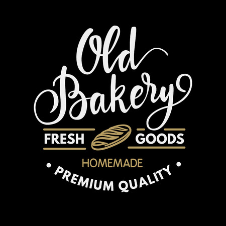 calligraphical: Vintage  calligraphical bakery design Illustration