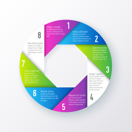 Vector Elements For Infographics Template For A Pie Chart Of