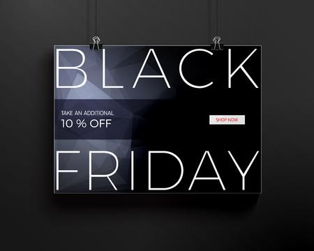 horisontal: Black Friday design for advertising, banners, leaflets and flyers. Vector illustration. Illustration