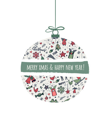 new year party: Modern New Year card or party design, vector illustration Illustration